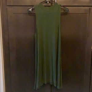 Olive Green Boutique High Neck Sleeveless Dress